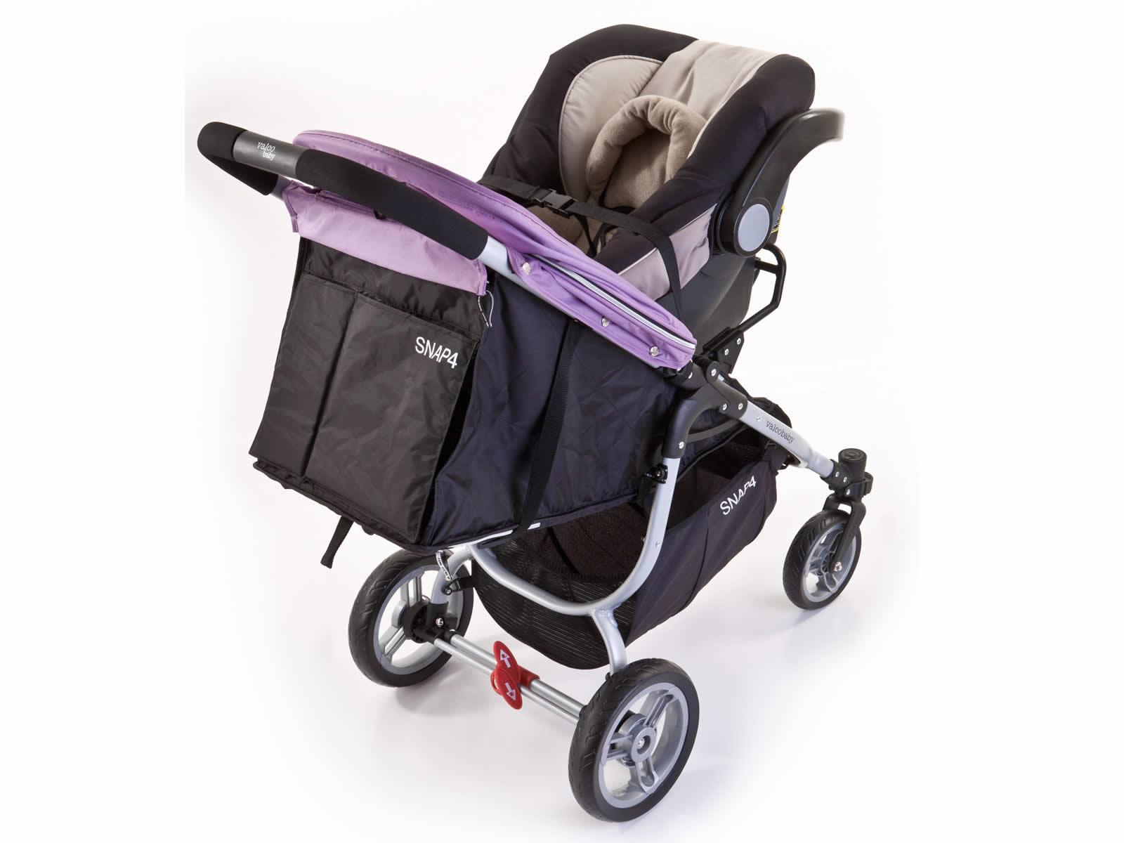 Snap with Safe-n-Sound infant carrier